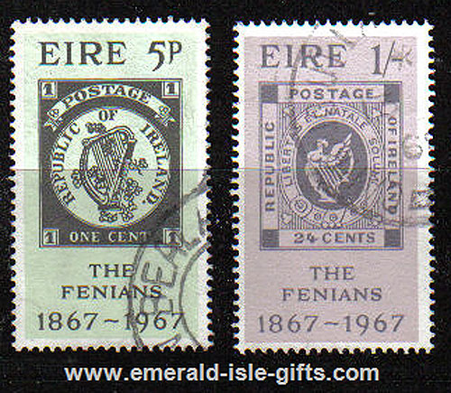 Ireland 1967 Fenian Rising Centenary Set Of 2 Used