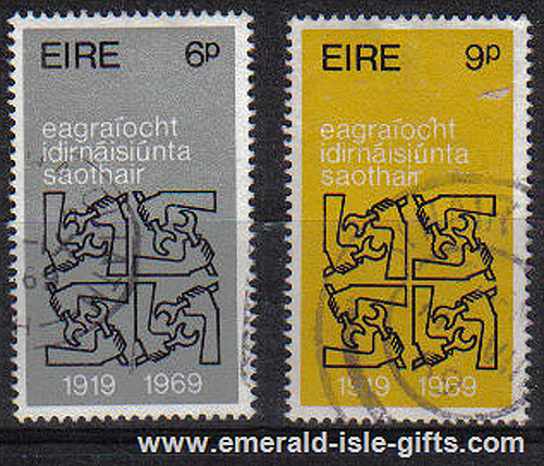 Ireland 1969 Intl. Labour Organisation Set Of 2 Used