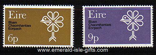 Ireland 1970 European Conserv Year Set Of 2 Mnh - 277/8