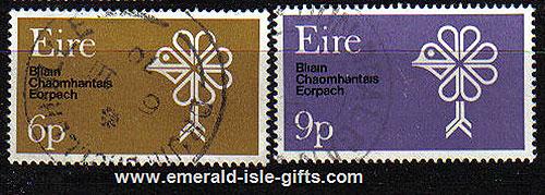 Ireland 1970 European Conservation Year Set Of 2 Used