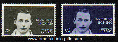Ireland 1970 Kevin Barry: Patriot Mnh Set Of 2 - 288/9