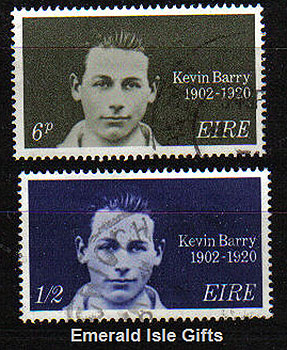 Ireland 1970 Kevin Barry: Patriot Used Set Of 2 - 288/9