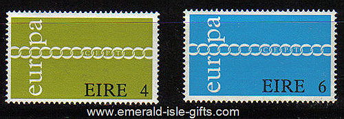 Ireland 1971 Europa Mnh Set Of 2 - 305/6
