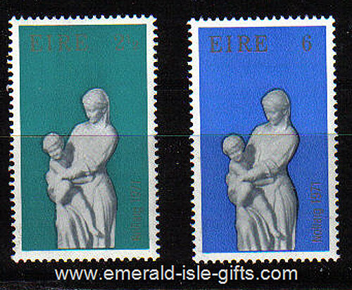 Ireland 1971 Christmas Set Of 2 Mnh - 312/3