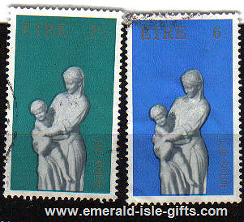 Ireland 1971 Christmas Used Set Of 2 - 312/3