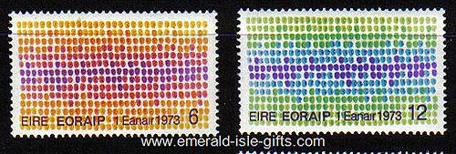 Ireland 1973 Eec Louis Le Brocquy Mnh Set 2 - 327/8