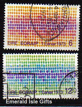 Ireland 1973 Eec Louis Le Brocquy Used Set Of 2 - 327/8