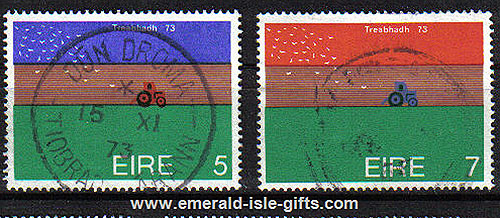 Ireland 1973 World Ploughing Championships Use Set Of 2
