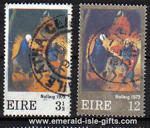 Ireland 1973 Christmas Used Set Of 2 - 336/7