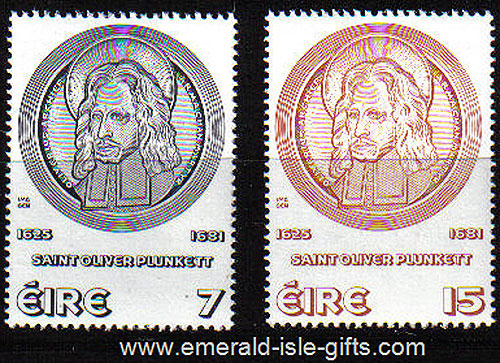 Ireland 1975 Oliver Plunkett Mnh Set Of 2 - 380/1