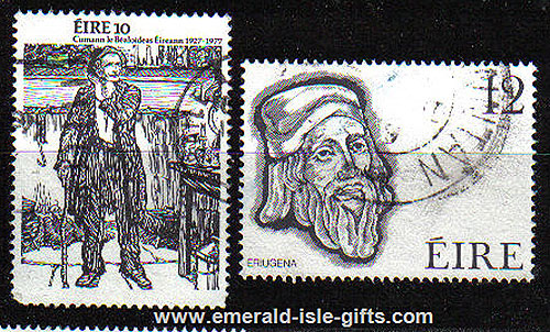 Ireland 1977 Folklore / Eriugena Used Set Of 2 - 418/9