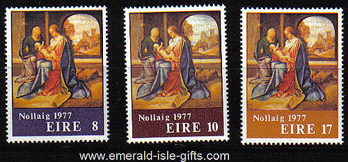 Ireland 1977 Christmas Mnh Set Of 3 - 424/5