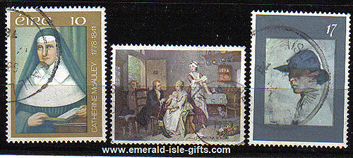 Ireland 1978 Mcauley, Small Pox, Orpen Used Set - 432/4