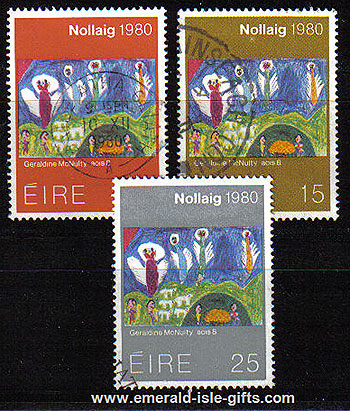 Ireland 1980 Christmas Used Set Of 3