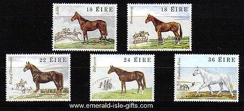 Ireland 1981 Famous Irish Horses Mnh Set Of 5