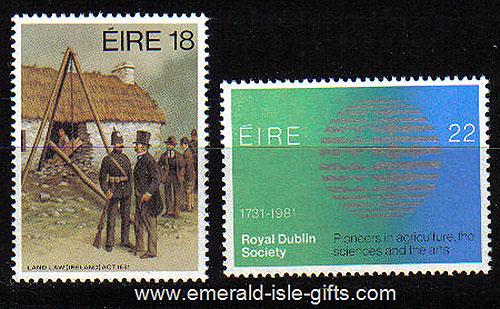 Ireland 1981 Land Law & Rds Anniversaries Mnh Set Of 2