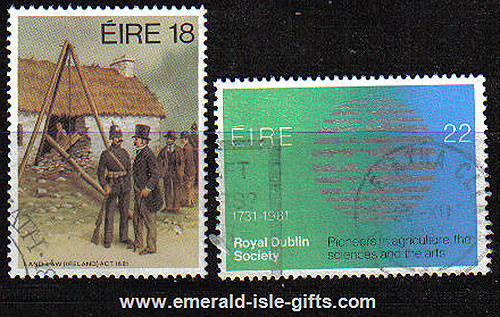Ireland 1981 Land Law & Rds Anniversaries Used Set Of 2