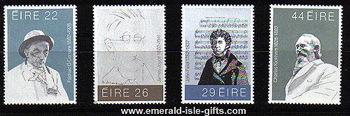 Ireland 1982 Literary Anniversaries Mnh Set Of 4