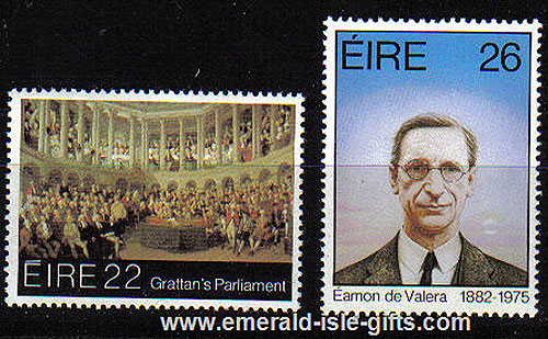 Ireland 1982 Eamon De Valera Henry Gratton Mnh Set Of 2
