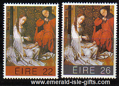 Ireland 1983 Christmas Mnh Set Of 2