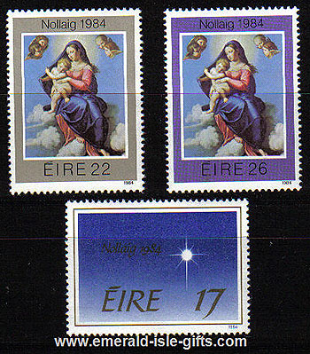 Ireland 1984 Christmas Mnh Set Of 3