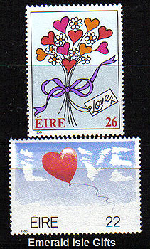 Ireland 1985 Love Stamps Set Of 2 Mnh