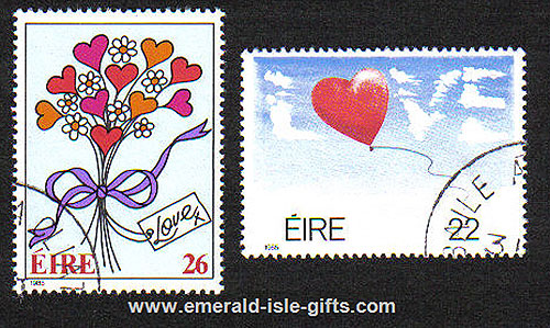 Ireland 1985 Love Stamps Set Of 2 Used