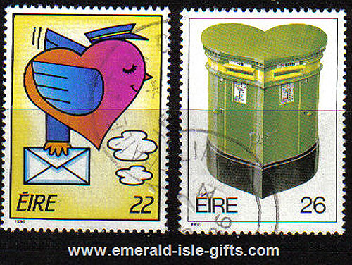 Ireland 1986 Love Stamps Set Of 2 Used