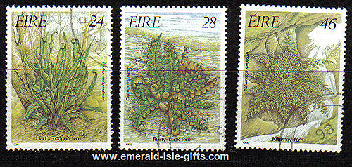 Ireland 1986 Irish Ferns Used Set Of 3