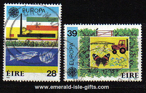 Ireland 1986 Europa Used Set Of 2