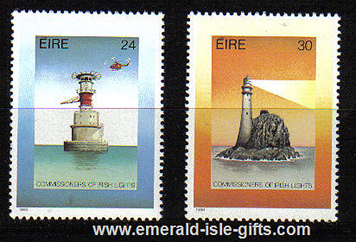 Ireland 1986 Lighthouses Anniversary Mnh Set Of 2