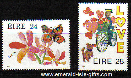 Ireland 1987 Love Stamps Mnh Set Of 2