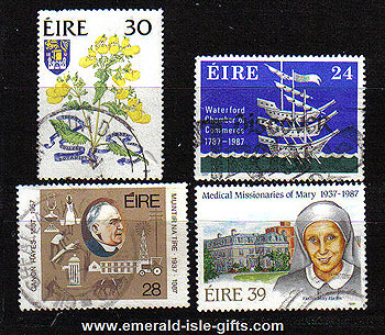 Ireland 1987 Anniversaries Trinity Etc Used Set Of 4