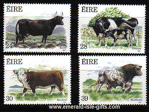 Ireland 1987 Cattle Farming Mnh Set Of 4