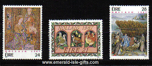 Ireland 1987 Christmas Mnh Set Of 3