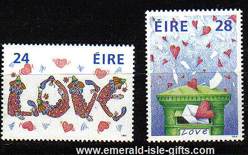 Ireland 1988 Love Stamps Mnh Set Of 2