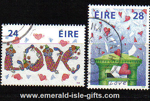Ireland 1988 Love Stamps Used Set Of 2