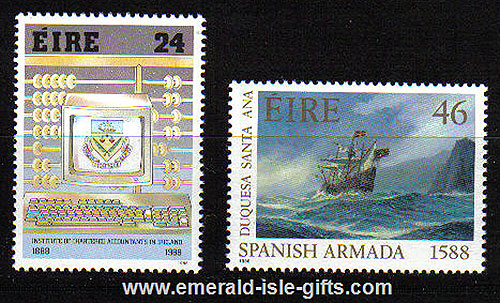 Ireland 1988 Spanish Armada / Accountants Mnh Set Of 2