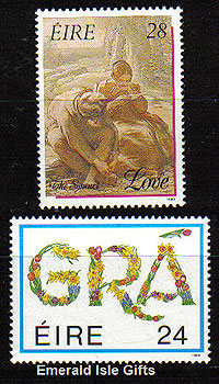 Ireland 1989 Love Stamps Mnh Set Of 2