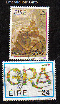 Ireland 1989 Love Stamps Used Set Of 2