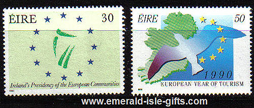 Ireland 1990 Eu President/ Year Of Tourism Mnh Set Of 2