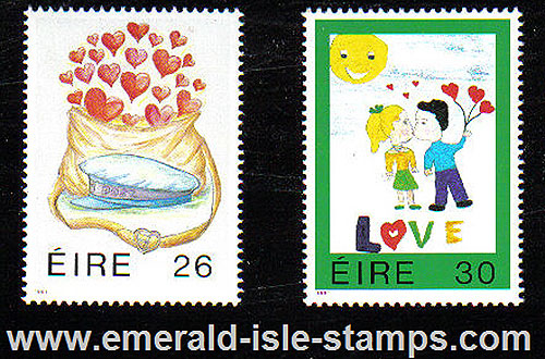 Ireland 1991 Love Stamps Mnh Set Of 2