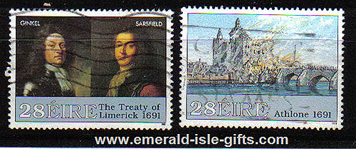 Ireland 1991 Williamite Wars Part 2 Used Set Of 2