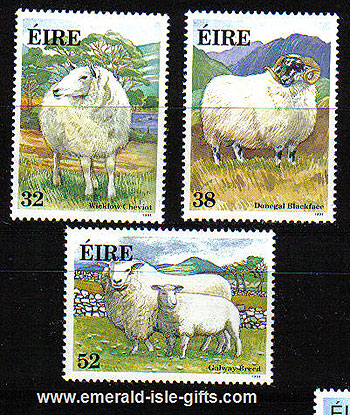 Ireland 1991 Irish Sheep Mnh Set Of 3