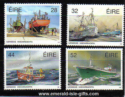 Ireland 1991 Fishing Fleet Mnh Set Of 4