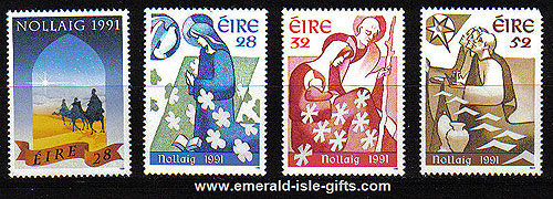 Ireland 1991 Christmas Mnh Set Of 4