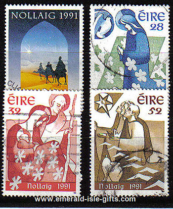 Ireland 1991 Christmas Used Set Of 4