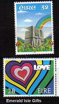 Ireland 1992 Love Stamps Mnh Set Of 2