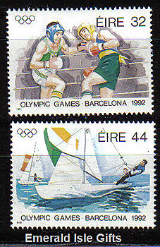 Ireland 1992 Olympics Barcelona Mnh Set Of 2