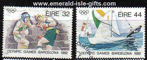 Ireland 1992 Olympics Barcelona Used Set Of 2